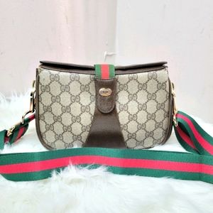 100% Authentic Gucci web sherry line crossbody bag